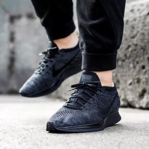 Women s Nike Flyknit Racer Black Sneakers 55cb93cda